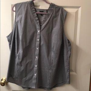 Talbots button up sleeveless shirt.